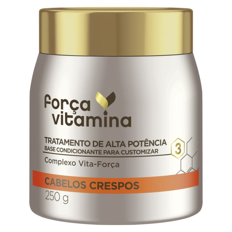 Máscara de Alta Potência para Customizar Força Vitamina Cabelos Crespos 250g