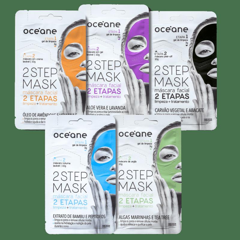 Kit Océane 2 Step Máscara Facial (5 Produtos)