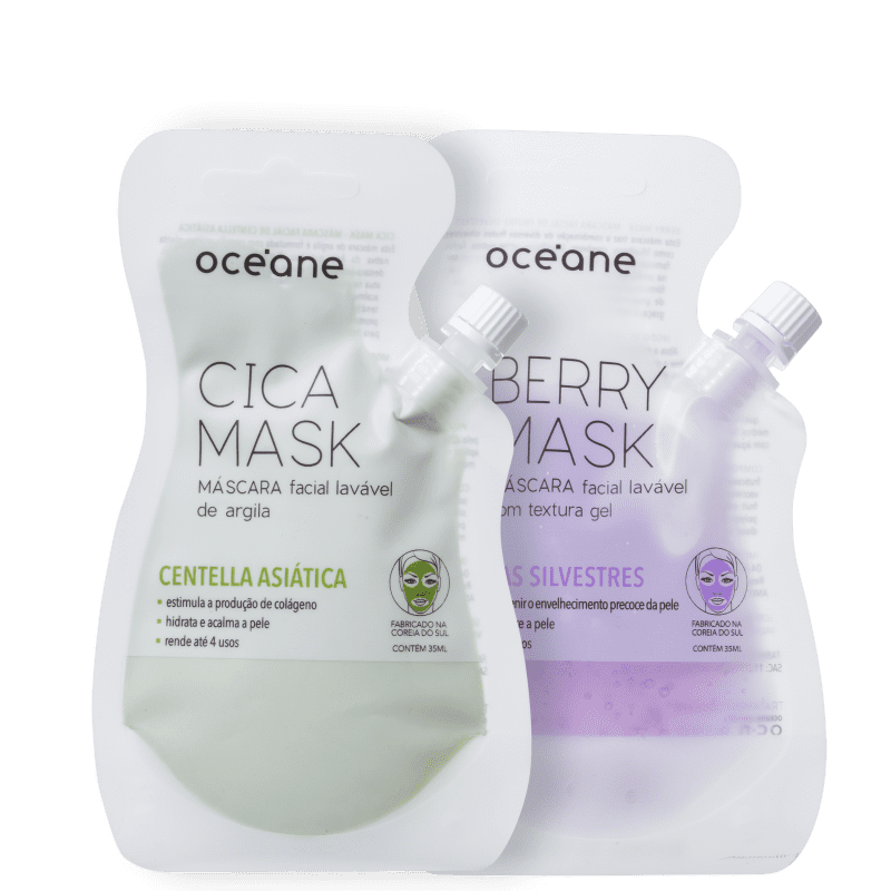 Kit Océane Berry & Cica Mask (2 Produtos)