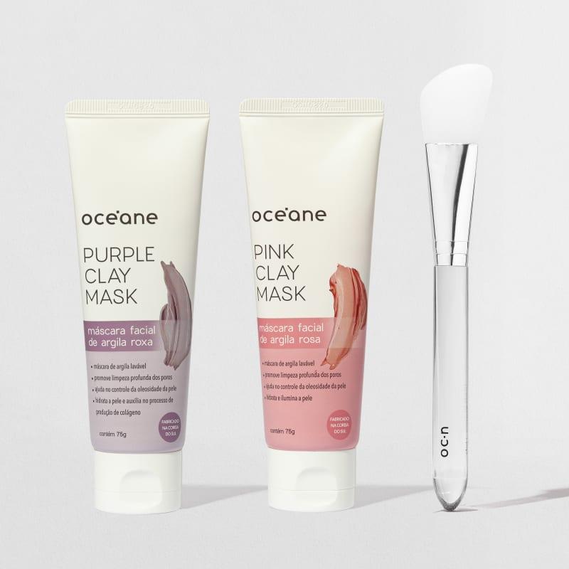 Kit Clay Mask + Pincel Skincare