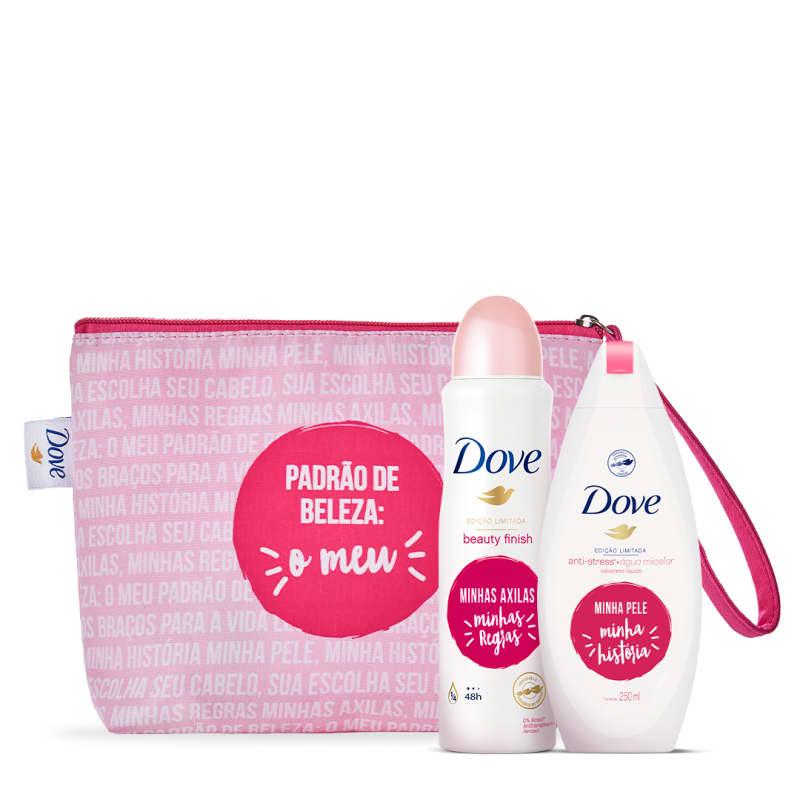 Kit Dove cuidado com a pele + Necessaire