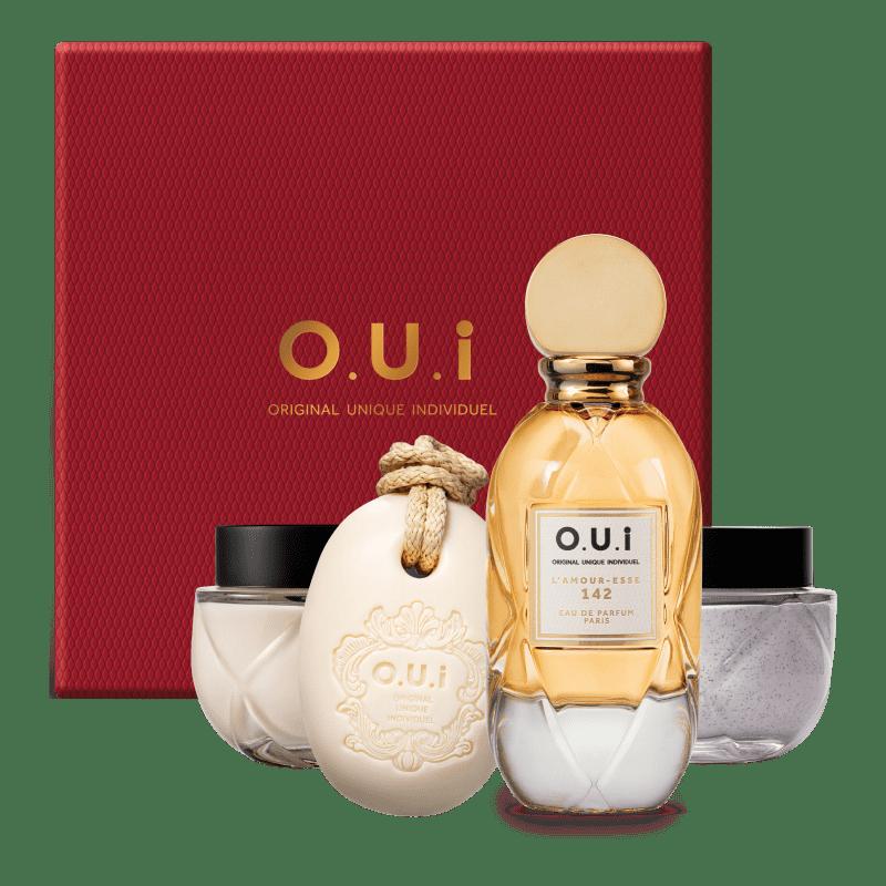 O.U.i Kit L'Amour-Esse 142 - Eau de Parfum 75ml + Creme Riche 200g + Esfoliante Corporal 200g + Sabonete Barra 190g