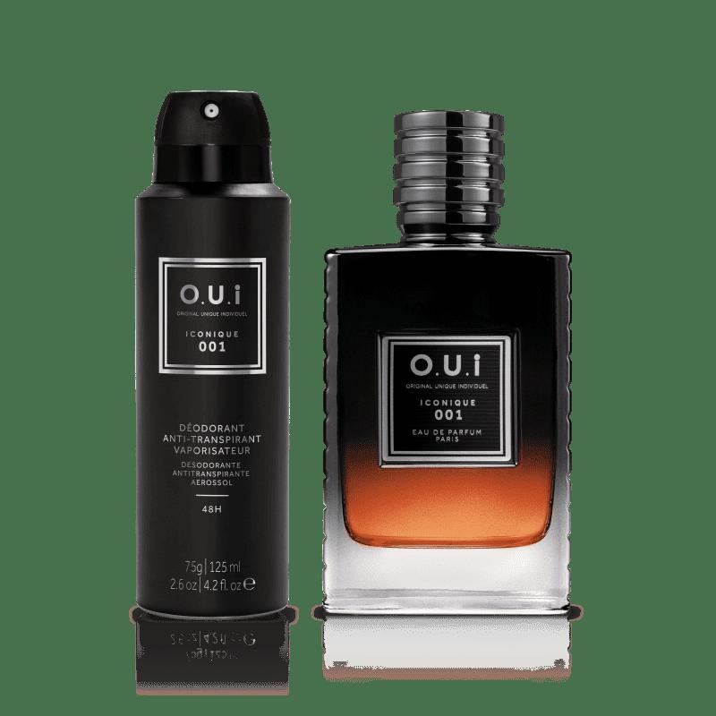Conjunto Iconique 001 O.U.i Masculino - Eau de Parfum 75ml + Desodorante 75g