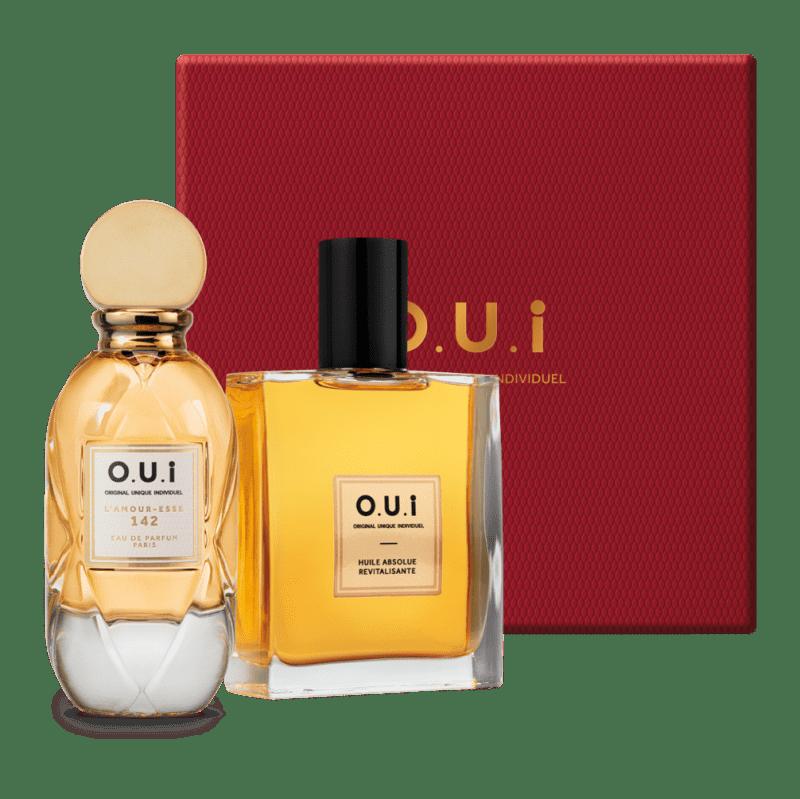Kit O.U.i L'Amour-Esse 142 & Rouge Luxe - Eau de Parfum, 75ml + Óleo Absoluto Revitalizante, 100ml