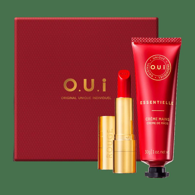 Kit O.U.i Rouge Luxe Essentielle - Batom 3,5g + Creme de Mãos 30g