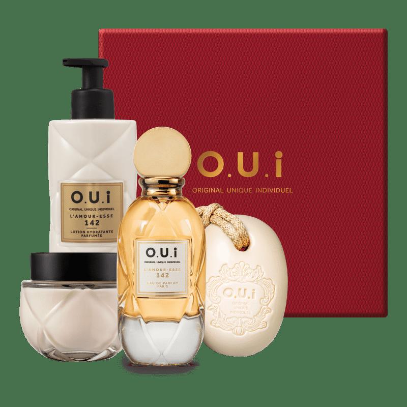 Conjunto L'Amour-Esse 142 O.U.i Feminino Intense - Eau de Parfum Feminino 75ml + Loção 400ml + Crème Riche 200g + Sabonete em Barra 190g