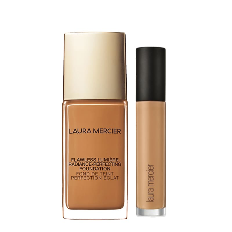 KIT com Flawless Lumière Radiance-Perfecting Foundation Pecan 5N1 e Flawless Fusion Ultra-Longwear Concealer 5N
