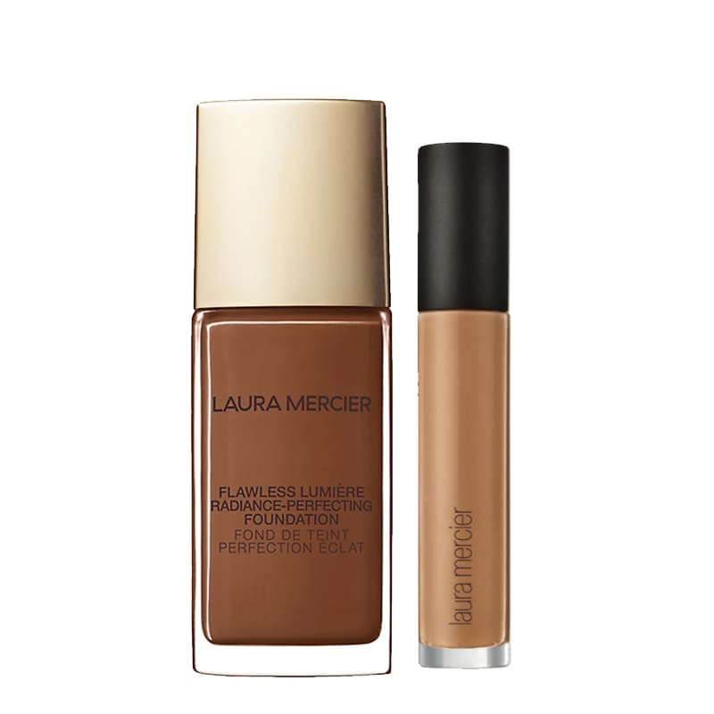 KIT com Flawless Lumière Radiance-Perfecting Foundation Truffle 6N1 e Flawless Fusion Ultra-Longwear Concealer 6N