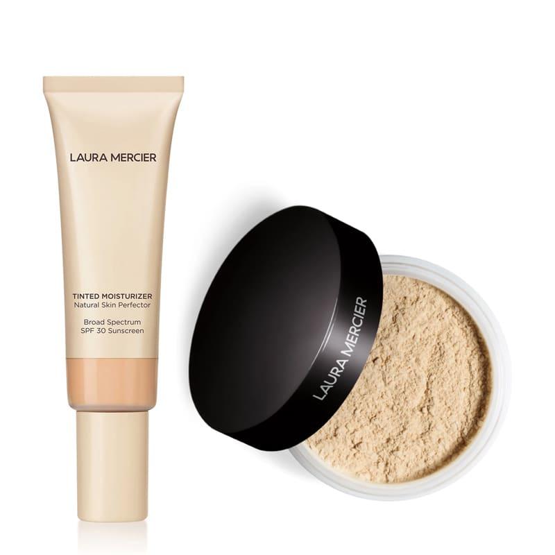 KIT com Tinted Moisturizer Natural Skin Perfector SPF30 Vanille 1N1 e Translucent Loose Setting Powder Translucent
