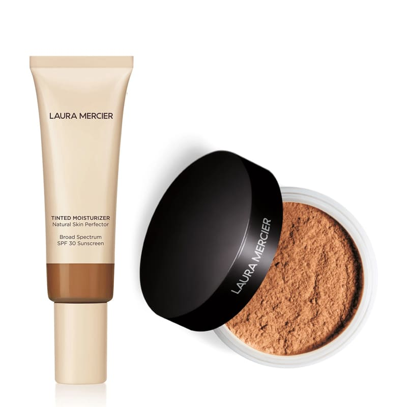 KIT com Tinted Moisturizer Natural Skin Perfector SPF30 Walnut 5N1 e Translucent Loose Setting Powder Medium Deep