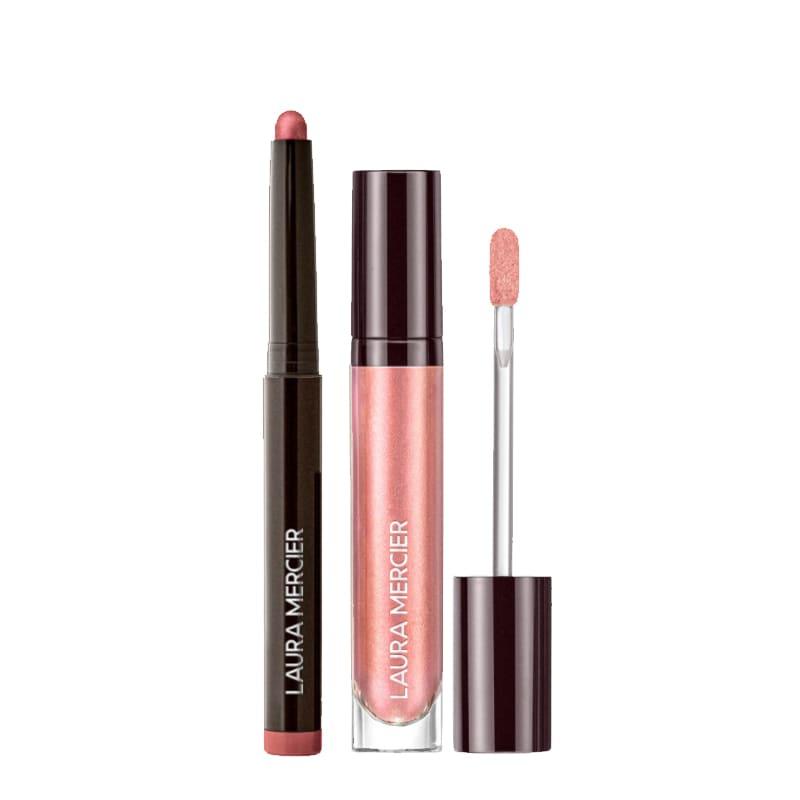 KIT com Caviar Stick Eye Colour Raspberry e Caviar Chrome Veil Crystal Rose