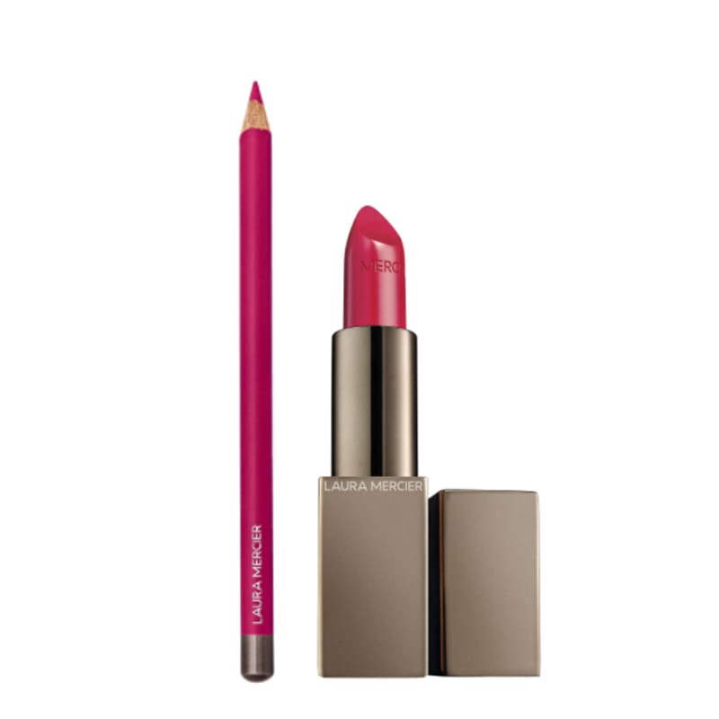 Kit Longwear Lip Liner French Fuchsia e Rouge Essentiel Silky Crème Lipstick Fuchsia Intense