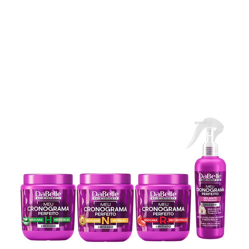Kit DaBelle Hair Intense Meu Cronograma Perfeito - Finalização (4 Produtos)