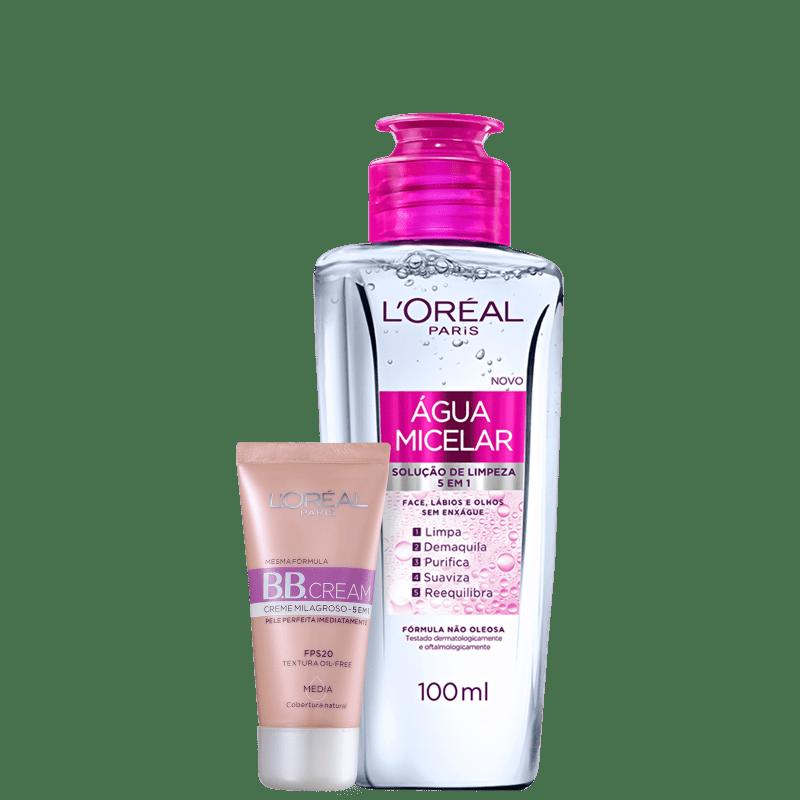 Kit L'Oréal Paris BB Cream + Água Micelar (2 Produtos)