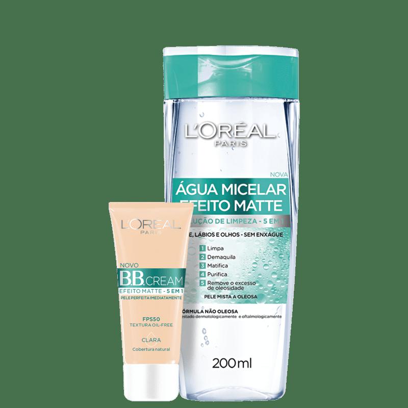 Kit L'Oréal Paris Efeito Matte Duo (2 Produtos)