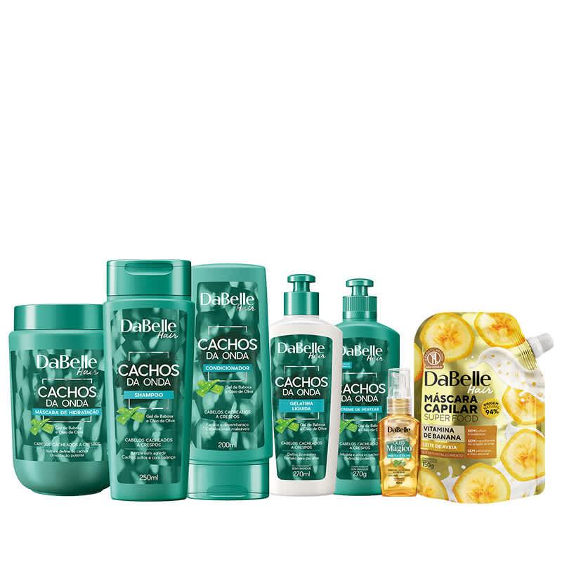 Kit DaBelle Hair Cachos da Onda Full + Super Fortalecimento (7 Produtos)