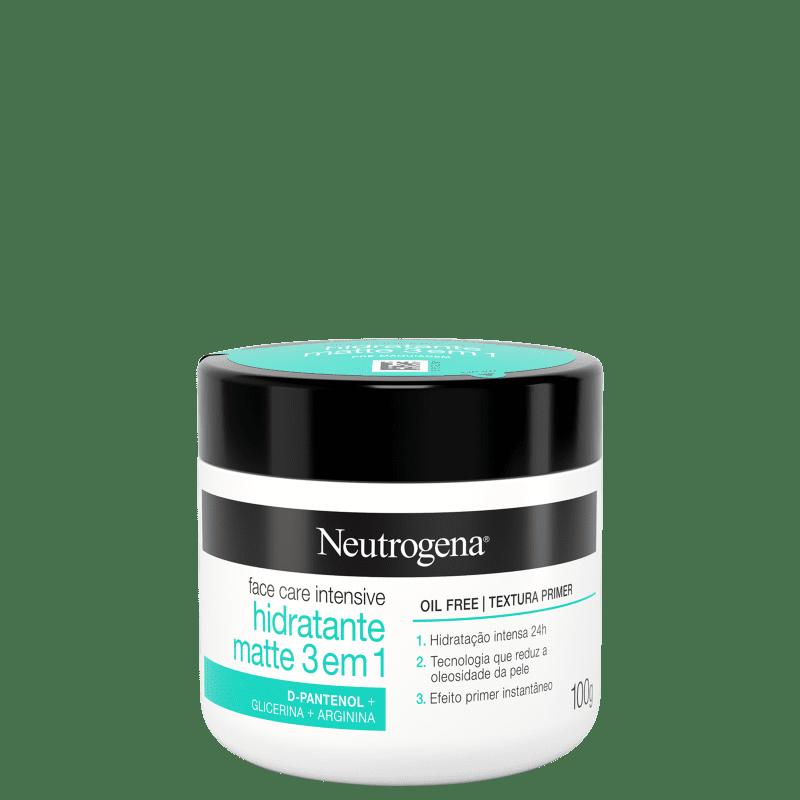 Neutrogena Face Care Intensive Matte 3 em 1 - Hidratante Facial 100g