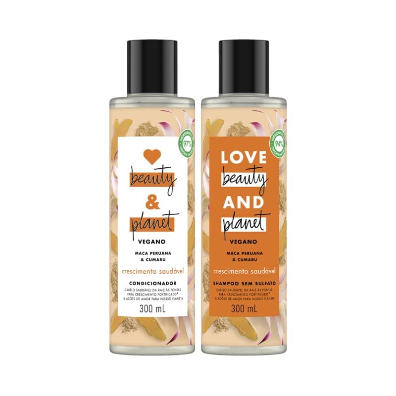 Kit Love, Beauty and Planet - Shampoo + Condicionador Crescimento Saudável com Maca Peruana