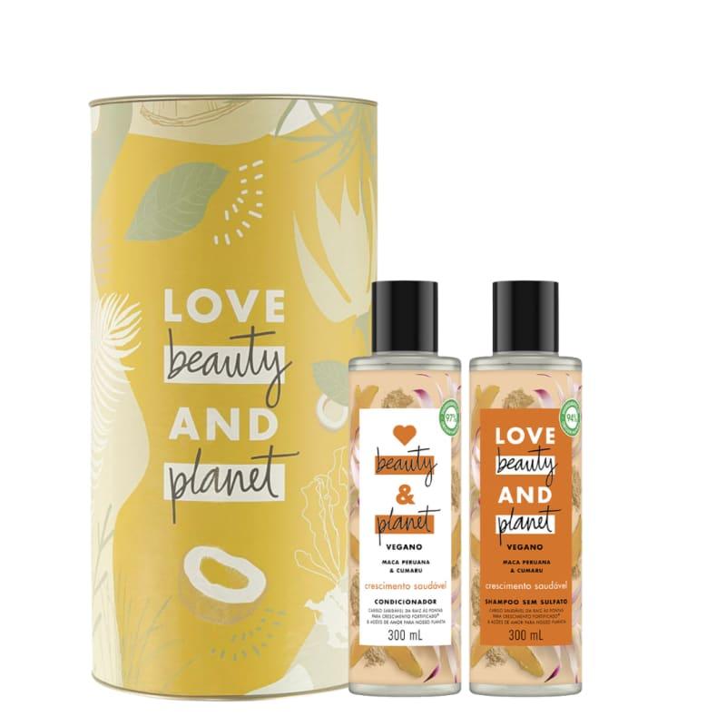Kit Love, Beauty and Planet - Shampoo + Condicionador Crescimento Saudável com Maca Peruana + Lata