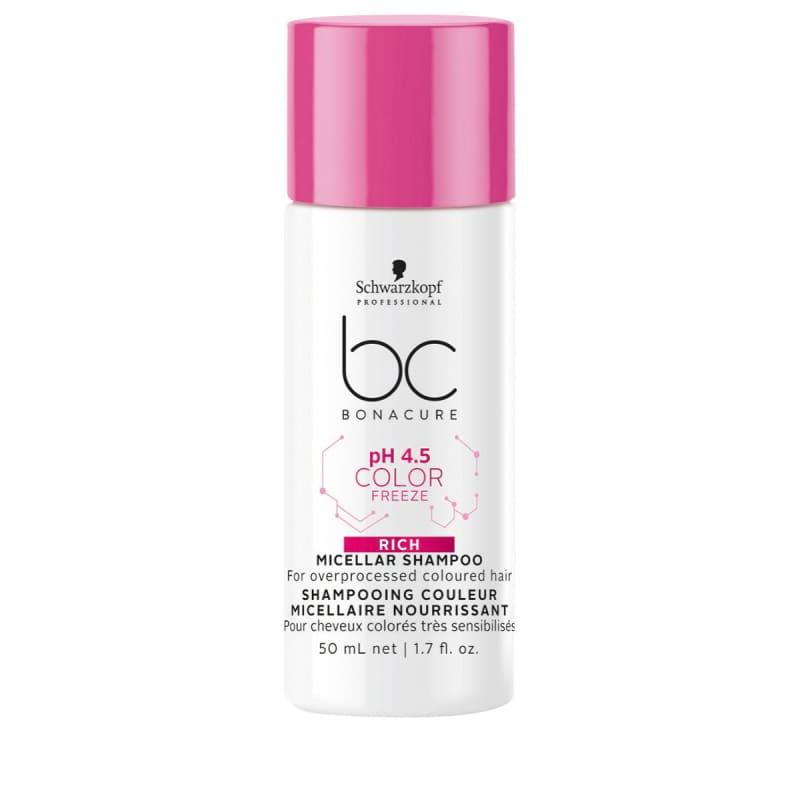 Schwarzkopf Professional BC Bonacure pH 4.5 Color Freeze Micellar Rich - Shampoo 50ml