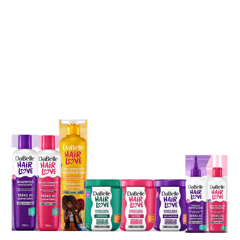 Kit DaBelle Hair Love Tratamento Para Pentear Completo