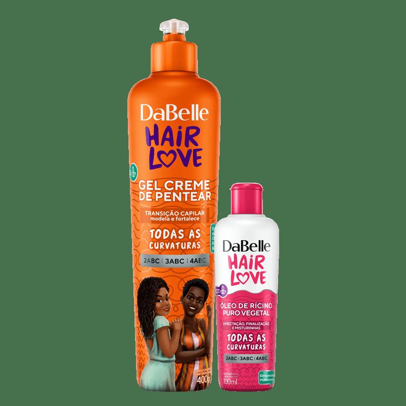 Kit DaBelle Hair Love Gel Em Creme Transicionadas + Óleo