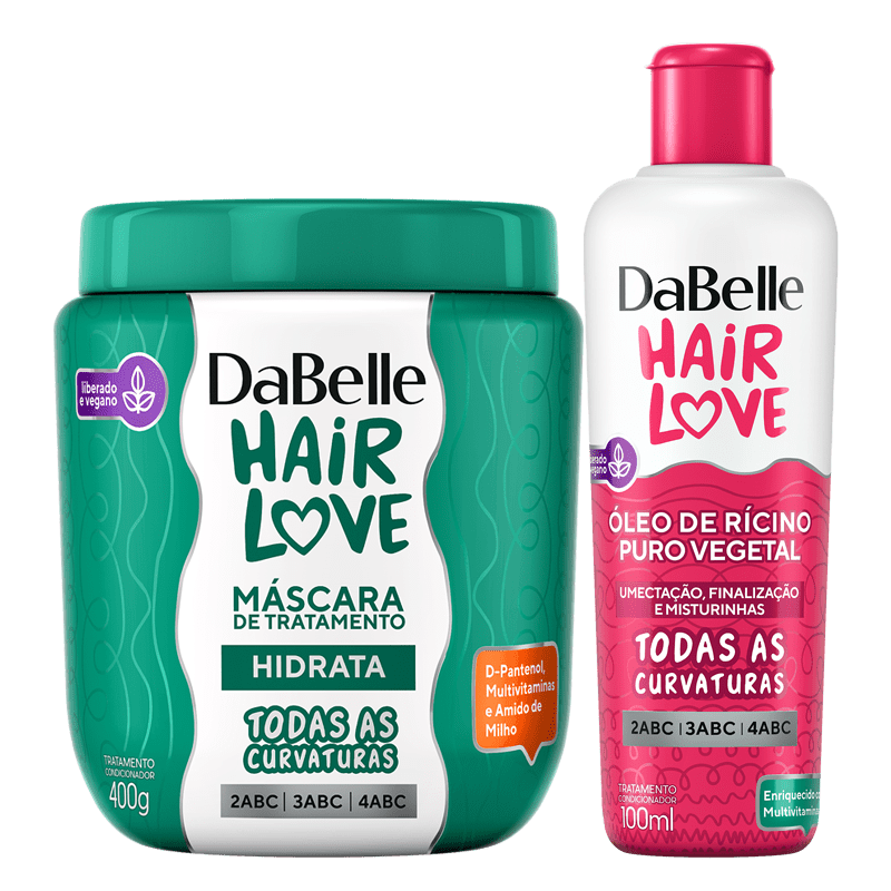 Kit DaBelle Hair Love Máscara Hidrata + Óleo
