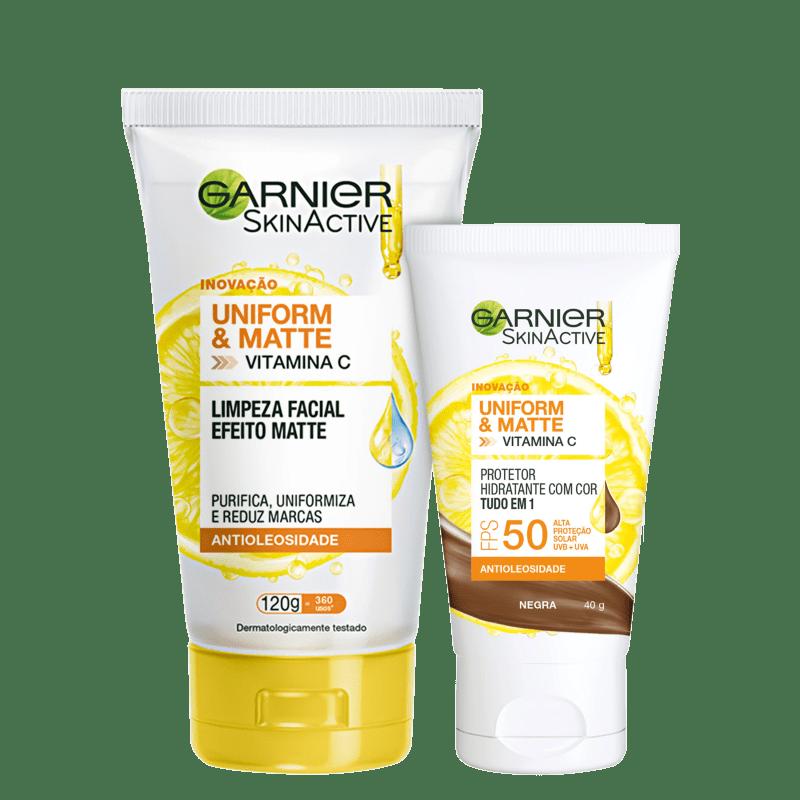 Kit Garnier SkinAtive Pele Matificada (2 Produtos)
