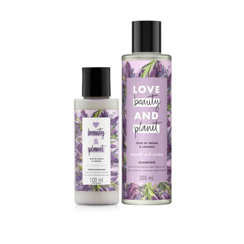 Kit Love, Beauty and Planet - Shampoo 300ml + Condicionador 100ml Smooth and Serene