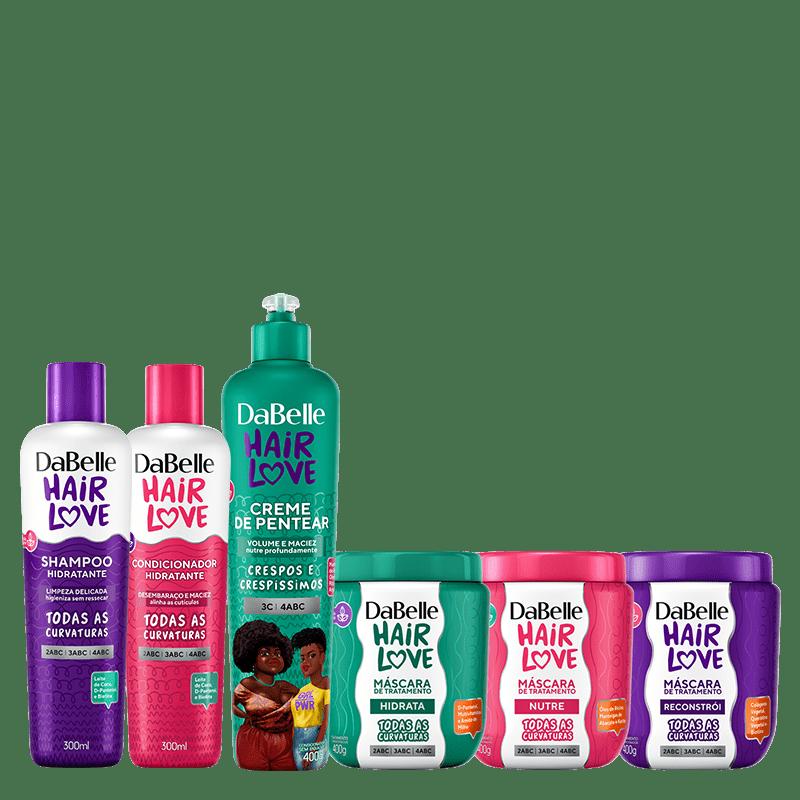 Kit DaBelle Hair Love Cronograma + Crespos e Crespíssimos