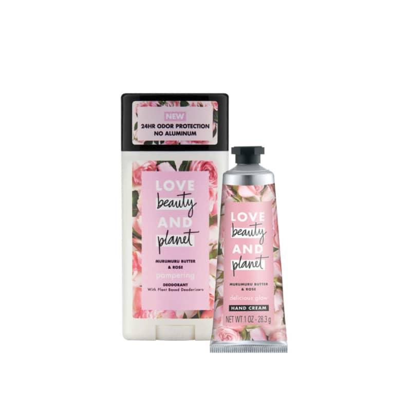 Kit Love, Beauty and Planet - Desodorante Stick + Creme de Mãos - Manteiga de Murumuru e Rosas