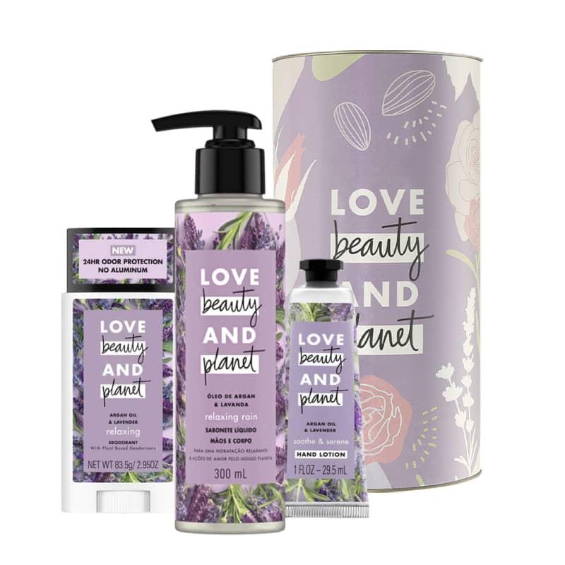 Kit Love, Beauty and Planet - Creme de mãos + Sabonete + Desodorante Stick - Lavanda