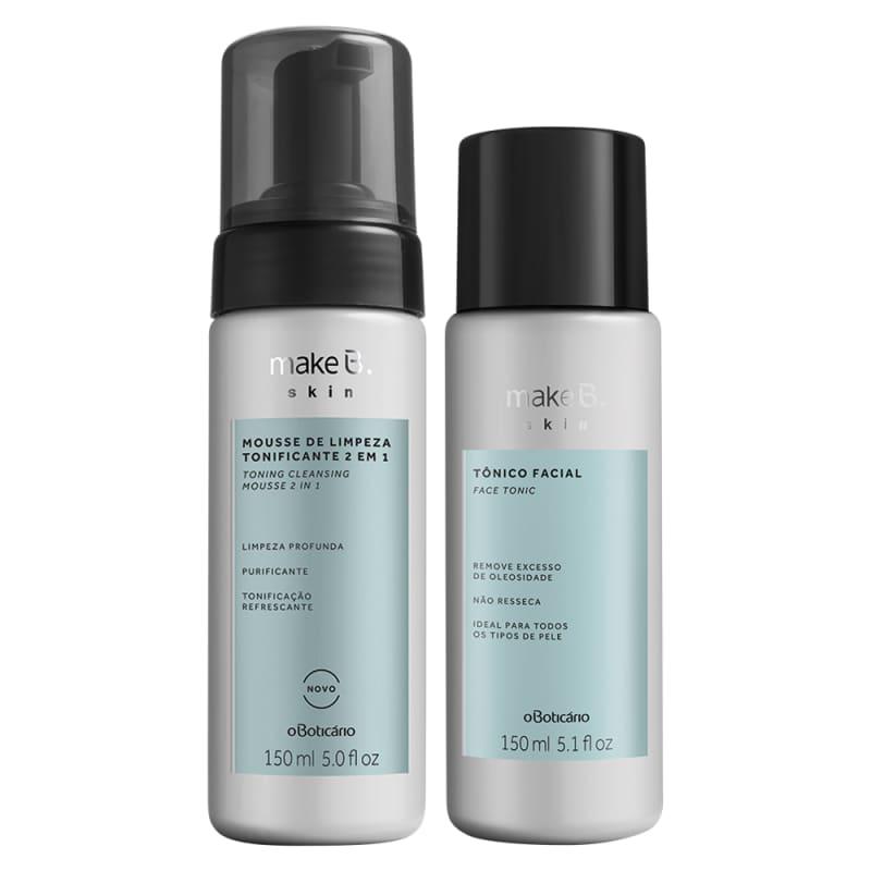 Combo Make B. Skin Limpeza da Pele: Mousse Tonificante 2 em 1 + Tônico Facial