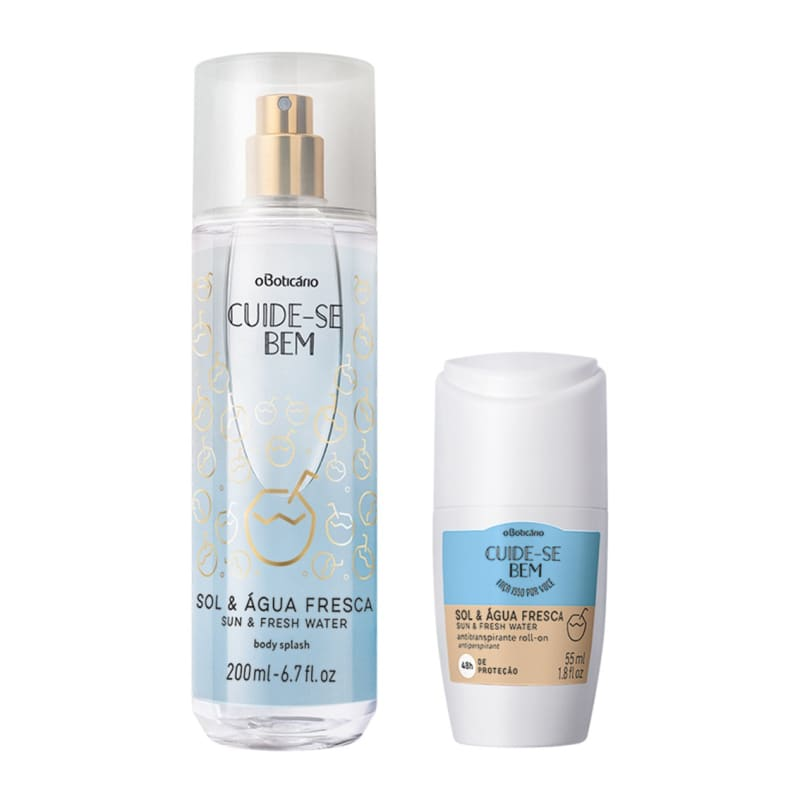 Combo Cuide-Se Bem Sol E Água Fresca: Body Splash, 200ml + Antitranspirante Roll On, 55ml