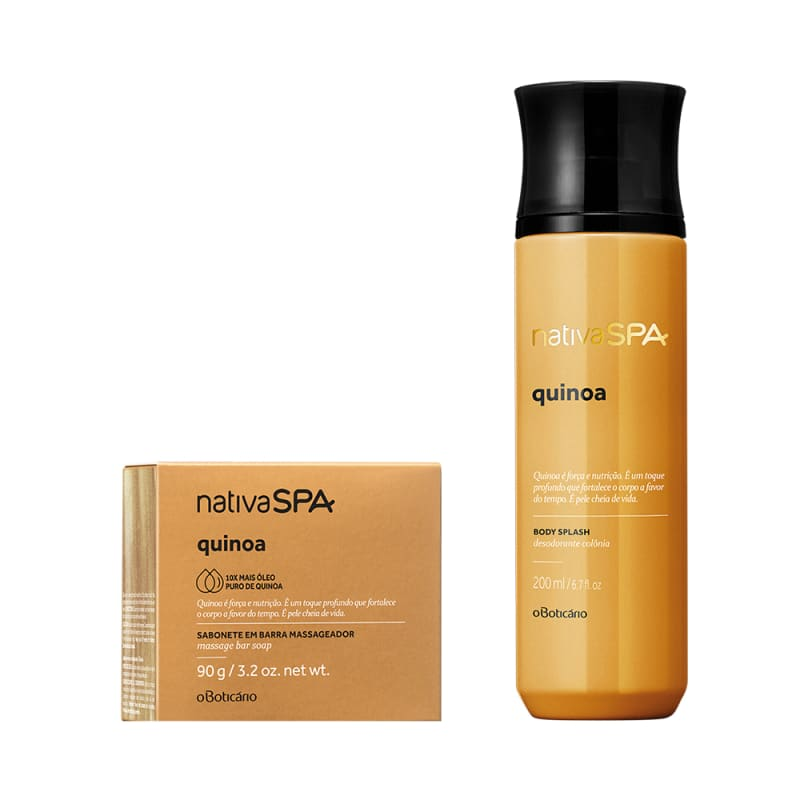 Combo Nativa Spa Quinoa: Sabonete Em Barra + Body Splash