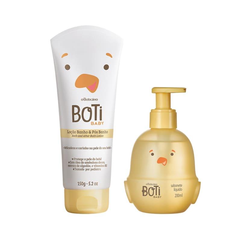 Combo Boti Baby Banho: Sabonete Líquido Corpo E Cabelo + Loção Hidratante De Banho e Pós-Banho