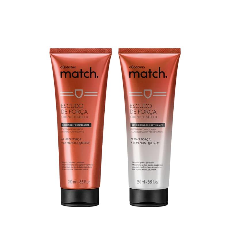 Combo Match Força: Shampoo, 250 ml + Condicionador, 250 ml