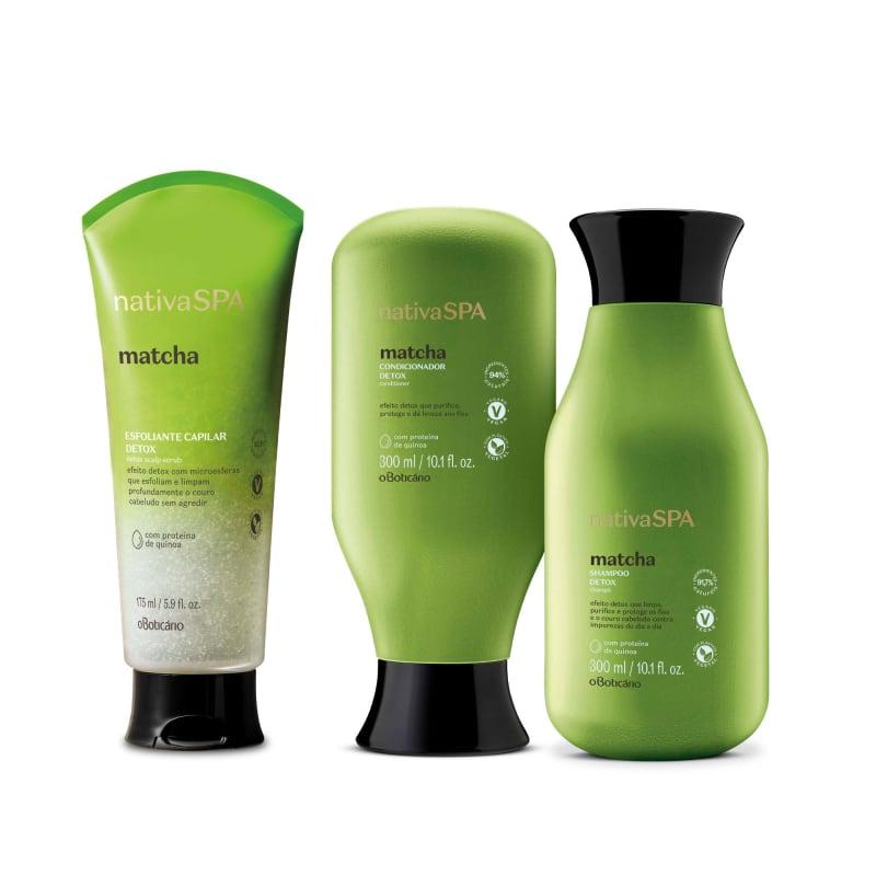 Combo Nativa Spa Matcha: Shampoo, 300Ml + Condicionador, 300Ml + Esfoliante Capilar, 175Ml