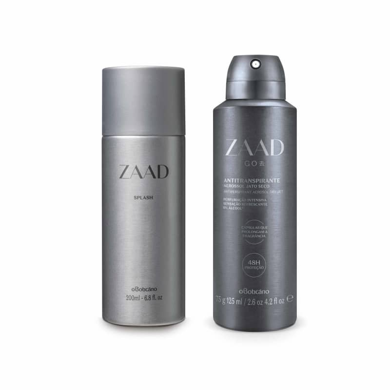 Combo Zaad: Splash, 200Ml + Antitranspirante Aerosol, 75G