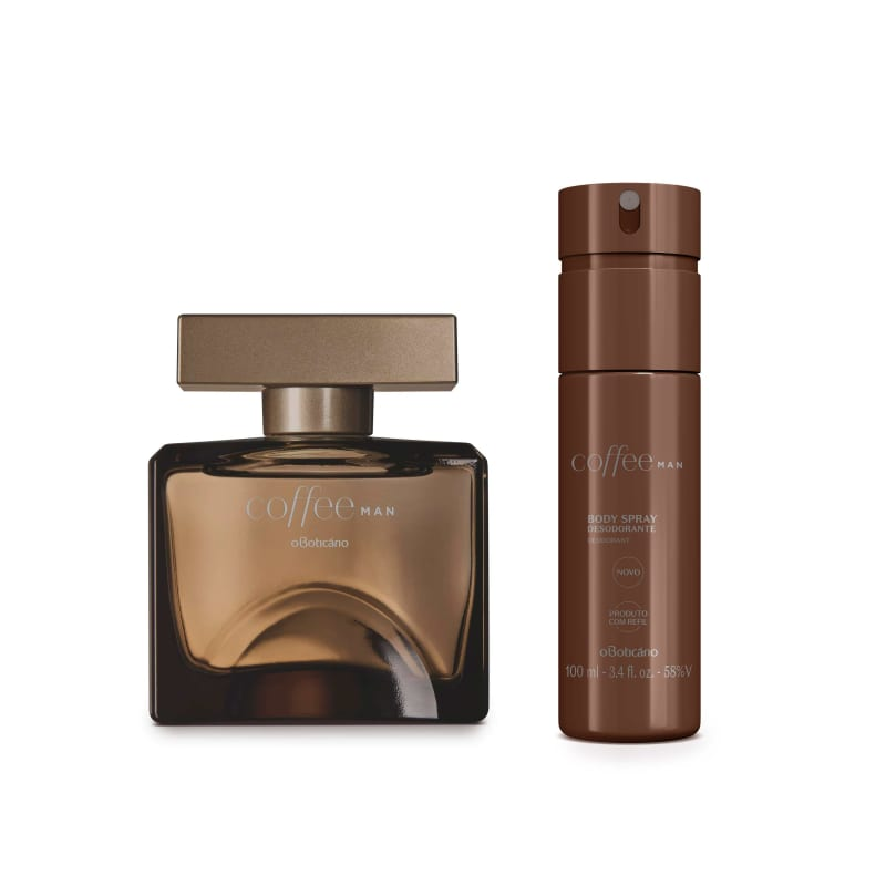 Combo Coffee Man: Body Splash, 100Ml + Desodorante Colônia, 100Ml