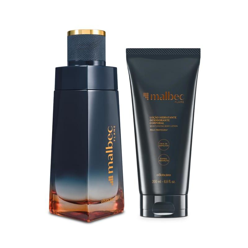 Combo Malbec Flame: Desodorante Colônia 100ml + Loção Desodorante Hidratante 200ml