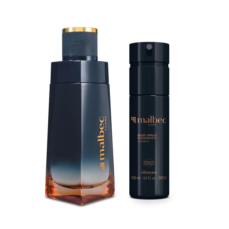 Combo Malbec Flame: Desodorante Colônia 100ml + Body Spray 100ml