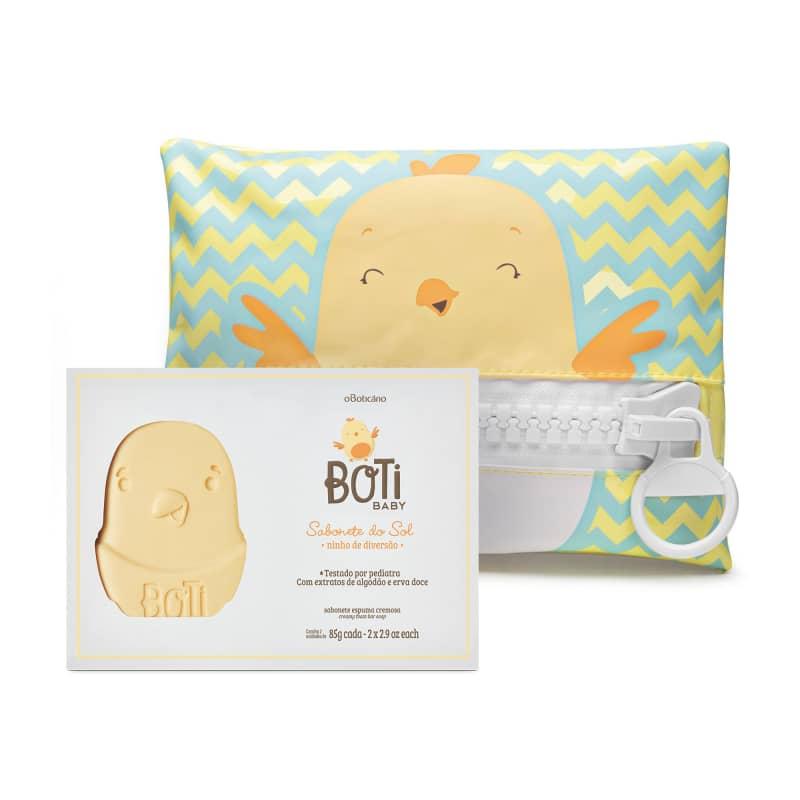 Combo Boti Baby: Sabonete em Barra Sol (2 unidades de 85g) + Necessaire
