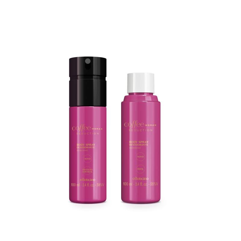 Combo Coffee Woman Seduction: Desodorante Body Spray 100ml + Refil