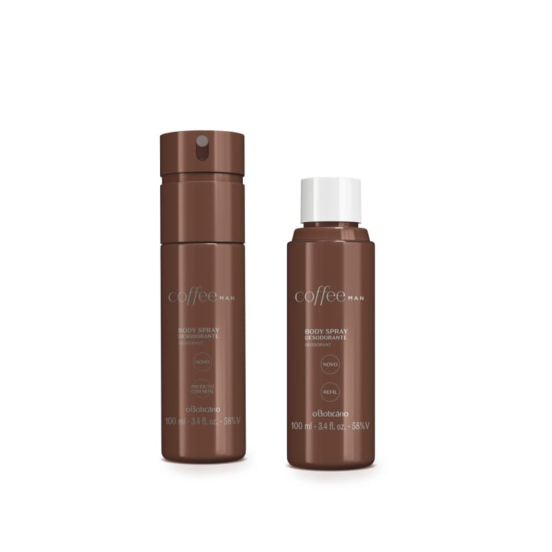 Combo Coffee Man: Desodorante Body Spray 100ml + Refil