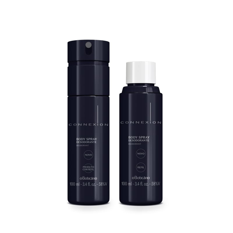 Combo Boticollection Connexion: Desodorante Body Spray 100ml + Refil