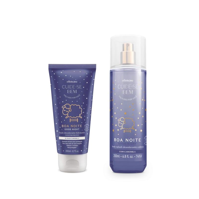 Combo Cuide-se Bem Boa Noite: Body Splash 200ml + Loção Desodorante Hidratante 200ml