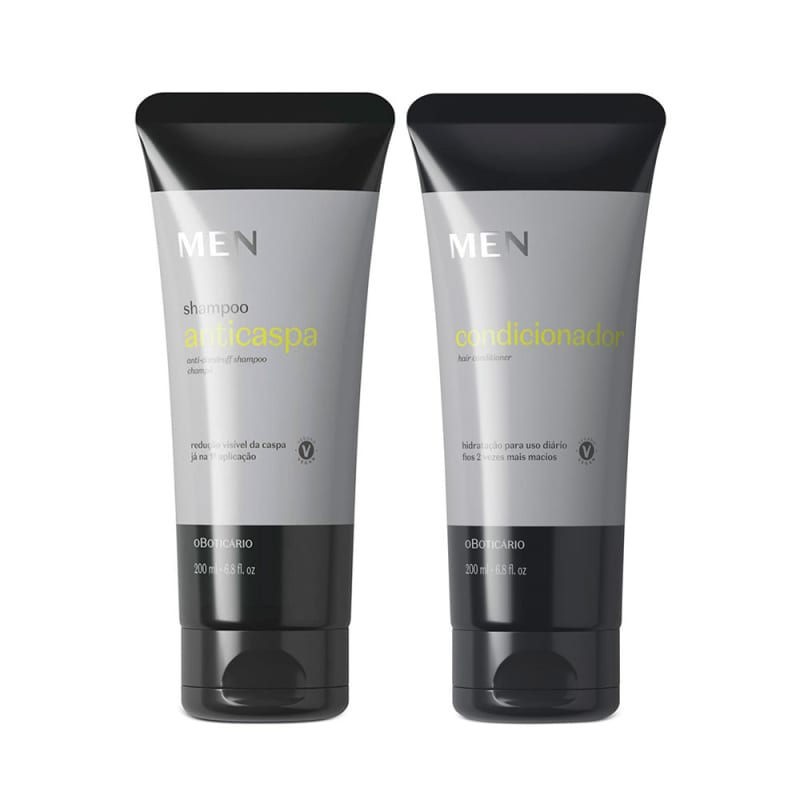 Combo MEN: Shampoo Anticaspa 200ml + Condicionador 200ml