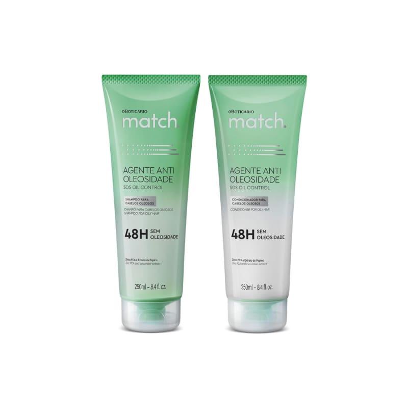 Combo Match Agente Antioleosidade: Shampoo 250ml + Condicionador 250ml