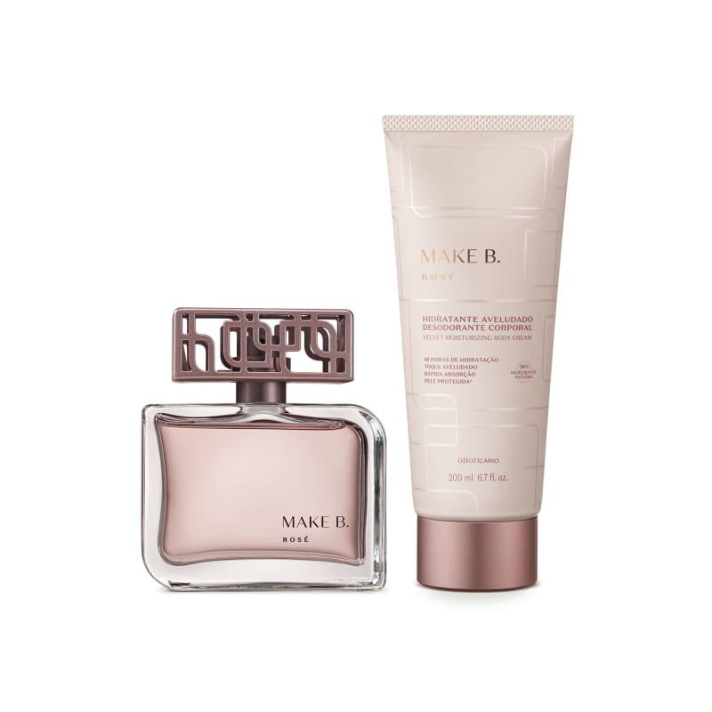 Combo Make B. Rosé: Eau de Parfum 75ml + Creme Aveludado 200g